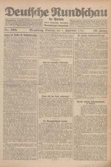 Deutsche Rundschau in Polen : früher Ostdeutsche Rundschau, Bromberger Tageblatt. Jg.49, Nr. 200 (1 September 1925) + dod.