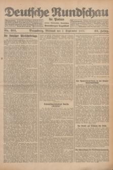 Deutsche Rundschau in Polen : früher Ostdeutsche Rundschau, Bromberger Tageblatt. Jg.49, Nr. 201 (2 September 1925) + dod.