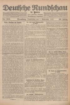 Deutsche Rundschau in Polen : früher Ostdeutsche Rundschau, Bromberger Tageblatt. Jg.49, Nr. 202 (3 September 1925) + dod.