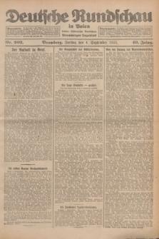 Deutsche Rundschau in Polen : früher Ostdeutsche Rundschau, Bromberger Tageblatt. Jg.49, Nr. 203 (4 September 1925) + dod.