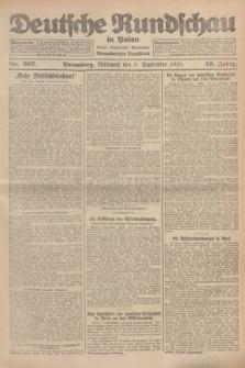 Deutsche Rundschau in Polen : früher Ostdeutsche Rundschau, Bromberger Tageblatt. Jg.49, Nr. 207 (9 September 1925) + dod.