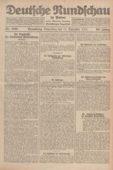 Deutsche Rundschau in Polen : früher Ostdeutsche Rundschau, Bromberger Tageblatt. Jg.49, Nr. 208 (10 September 1925) + dod.