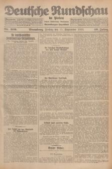 Deutsche Rundschau in Polen : früher Ostdeutsche Rundschau, Bromberger Tageblatt. Jg.49, Nr. 209 (11 September 1925) + dod.