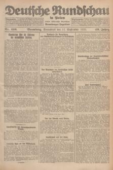 Deutsche Rundschau in Polen : früher Ostdeutsche Rundschau, Bromberger Tageblatt. Jg.49, Nr. 210 (12 September 1925) + dod.