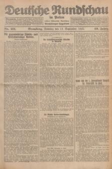 Deutsche Rundschau in Polen : früher Ostdeutsche Rundschau, Bromberger Tageblatt. Jg.49, Nr. 211 (13 September 1925) + dod.