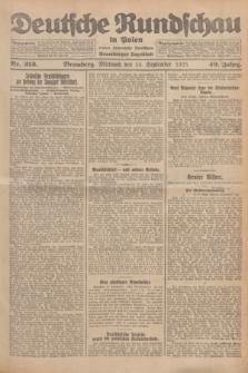 Deutsche Rundschau in Polen : früher Ostdeutsche Rundschau, Bromberger Tageblatt. Jg.49, Nr. 213 (16 September 1925) + dod.
