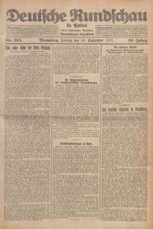 Deutsche Rundschau in Polen : früher Ostdeutsche Rundschau, Bromberger Tageblatt. Jg.49, Nr. 215 (18 September 1925) + dod.