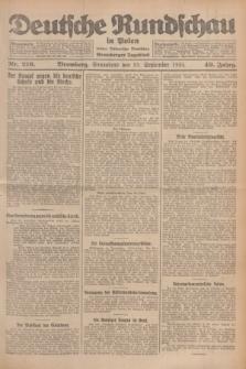 Deutsche Rundschau in Polen : früher Ostdeutsche Rundschau, Bromberger Tageblatt. Jg.49, Nr. 216 (19 September 1925) + dod.