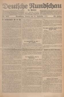 Deutsche Rundschau in Polen : früher Ostdeutsche Rundschau, Bromberger Tageblatt. Jg.49, Nr. 217 (20 September 1925) + dod.