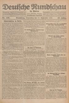 Deutsche Rundschau in Polen : früher Ostdeutsche Rundschau, Bromberger Tageblatt. Jg.49, Nr. 220 (24 September 1925) + dod.