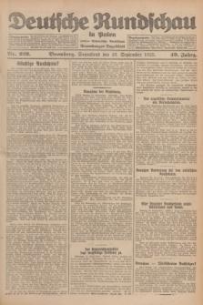 Deutsche Rundschau in Polen : früher Ostdeutsche Rundschau, Bromberger Tageblatt. Jg.49, Nr. 222 (26 September 1925) + dod.