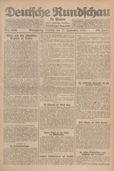 Deutsche Rundschau in Polen : früher Ostdeutsche Rundschau, Bromberger Tageblatt. Jg.49, Nr. 223 (27 September 1925) + dod.