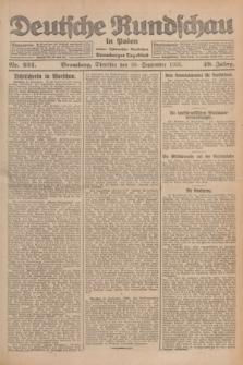Deutsche Rundschau in Polen : früher Ostdeutsche Rundschau, Bromberger Tageblatt. Jg.49, Nr. 224 (29 September 1925) + dod.