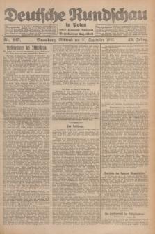 Deutsche Rundschau in Polen : früher Ostdeutsche Rundschau, Bromberger Tageblatt. Jg.49, Nr. 225 (30 September 1925) + dod.