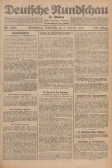 Deutsche Rundschau in Polen : früher Ostdeutsche Rundschau, Bromberger Tageblatt. Jg.49, Nr. 226 (1 Oktober 1925) + dod.