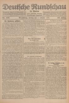 Deutsche Rundschau in Polen : früher Ostdeutsche Rundschau, Bromberger Tageblatt. Jg.49, Nr. 227 (2 Oktober 1925) + dod.