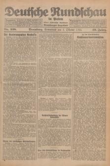 Deutsche Rundschau in Polen : früher Ostdeutsche Rundschau, Bromberger Tageblatt. Jg.49, Nr. 228 (3 Oktober 1925) + dod.