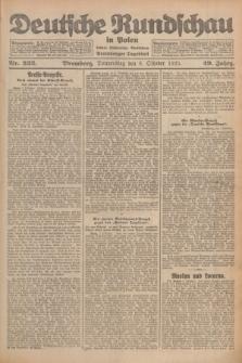 Deutsche Rundschau in Polen : früher Ostdeutsche Rundschau, Bromberger Tageblatt. Jg.49, Nr. 232 (8 Oktober 1925) + dod.