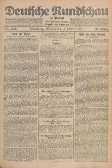 Deutsche Rundschau in Polen : früher Ostdeutsche Rundschau, Bromberger Tageblatt. Jg.49, Nr. 237 (14 Oktober 1925) + dod.