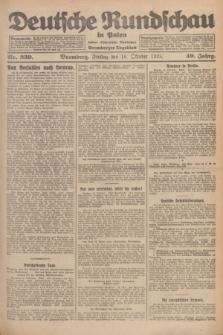 Deutsche Rundschau in Polen : früher Ostdeutsche Rundschau, Bromberger Tageblatt. Jg.49, Nr. 239 (16 Oktober 1925) + dod.