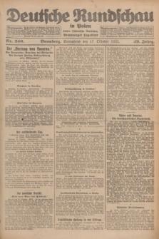 Deutsche Rundschau in Polen : früher Ostdeutsche Rundschau, Bromberger Tageblatt. Jg.49, Nr. 240 (17 Oktober 1925) + dod.