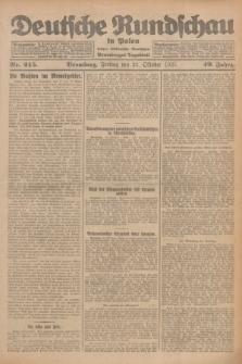 Deutsche Rundschau in Polen : früher Ostdeutsche Rundschau, Bromberger Tageblatt. Jg.49, Nr. 245 (23 Oktober 1925) + dod.