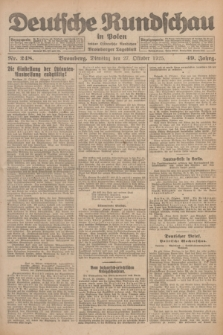 Deutsche Rundschau in Polen : früher Ostdeutsche Rundschau, Bromberger Tageblatt. Jg.49, Nr. 248 (27 Oktober 1925) + dod.