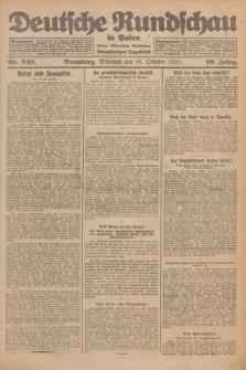 Deutsche Rundschau in Polen : früher Ostdeutsche Rundschau, Bromberger Tageblatt. Jg.49, Nr. 249 (28 Oktober 1925) + dod.