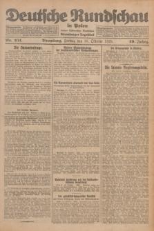 Deutsche Rundschau in Polen : früher Ostdeutsche Rundschau, Bromberger Tageblatt. Jg.49, Nr. 251 (30 Oktober 1925) + dod.