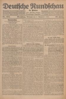 Deutsche Rundschau in Polen : früher Ostdeutsche Rundschau, Bromberger Tageblatt. Jg.49, Nr. 255 (4 November 1925) + dod.
