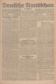 Deutsche Rundschau in Polen : früher Ostdeutsche Rundschau, Bromberger Tageblatt. Jg.49, Nr. 256 (5 November 1925) + dod.