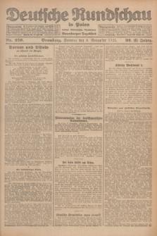 Deutsche Rundschau in Polen : früher Ostdeutsche Rundschau, Bromberger Tageblatt. Jg.32, Nr. 259 (8 November 1925) = Jg.49 + dod.