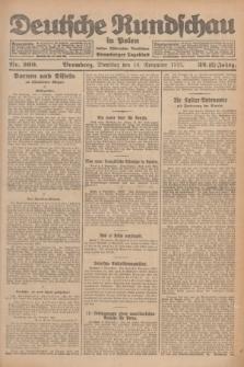 Deutsche Rundschau in Polen : früher Ostdeutsche Rundschau, Bromberger Tageblatt. Jg.32, Nr. 260 (10 November 1925) = Jg.49 + dod.