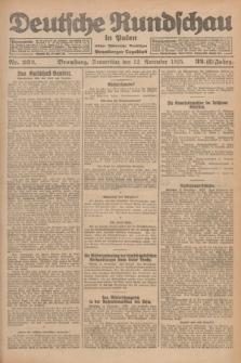 Deutsche Rundschau in Polen : früher Ostdeutsche Rundschau, Bromberger Tageblatt. Jg.32, Nr. 262 (12 November 1925) = Jg.49 + dod.