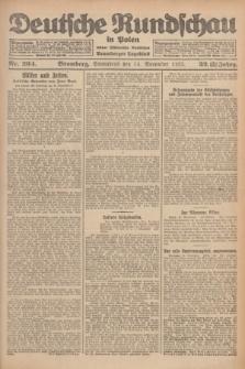 Deutsche Rundschau in Polen : früher Ostdeutsche Rundschau, Bromberger Tageblatt. Jg.32, Nr. 264 (14 November 1925) = Jg.49 + dod.