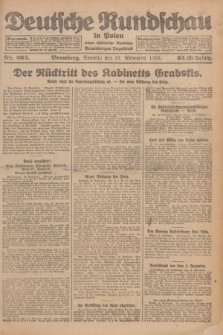 Deutsche Rundschau in Polen : früher Ostdeutsche Rundschau, Bromberger Tageblatt. Jg.32, Nr. 265 (15 November 1925) = Jg.49 + dod.