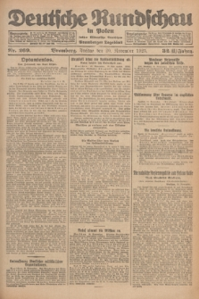 Deutsche Rundschau in Polen : früher Ostdeutsche Rundschau, Bromberger Tageblatt. Jg.32, Nr. 269 (20 November 1925) = Jg.49 + dod.