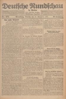 Deutsche Rundschau in Polen : früher Ostdeutsche Rundschau, Bromberger Tageblatt. Jg.32, Nr. 272 (24 November 1925) = Jg.49 + dod.