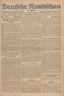 Deutsche Rundschau in Polen : früher Ostdeutsche Rundschau, Bromberger Tageblatt. Jg.32, Nr. 274 (26 November 1925) = Jg.49 + dod.