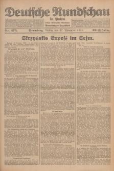Deutsche Rundschau in Polen : früher Ostdeutsche Rundschau, Bromberger Tageblatt. Jg.32, Nr. 275 (27 November 1925) = Jg.49 + dod.