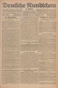 Deutsche Rundschau in Polen : früher Ostdeutsche Rundschau, Bromberger Tageblatt. Jg.32, Nr. 276 (28 November 1925) = Jg.49 + dod.