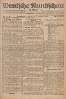 Deutsche Rundschau in Polen : früher Ostdeutsche Rundschau, Bromberger Tageblatt. Jg.32, Nr. 278 (1 Dezember 1925) = Jg.49 + dod.