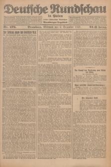 Deutsche Rundschau in Polen : früher Ostdeutsche Rundschau, Bromberger Tageblatt. Jg.32, Nr. 279 (2 Dezember 1925) = Jg.49 + dod.
