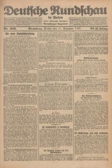 Deutsche Rundschau in Polen : früher Ostdeutsche Rundschau, Bromberger Tageblatt. Jg.32, Nr. 286 (11 Dezember 1925) = Jg.49 + dod.