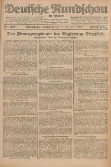 Deutsche Rundschau in Polen : früher Ostdeutsche Rundschau, Bromberger Tageblatt. Jg.32, Nr. 287 (12 Dezember 1925) = Jg.49 + dod.
