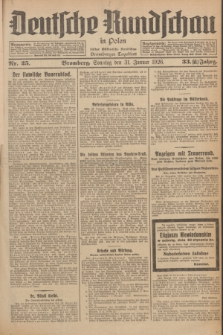 Deutsche Rundschau in Polen : früher Ostdeutsche Rundschau, Bromberger Tageblatt. Jg.33, Nr. 25 (31 Januar 1926) = Jg.50 + dod.