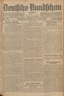 Deutsche Rundschau in Polen : früher Ostdeutsche Rundschau, Bromberger Tageblatt. Jg.33, Nr. 95 (27 April 1926) = Jg.50 + dod.