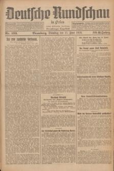 Deutsche Rundschau in Polen : früher Ostdeutsche Rundschau, Bromberger Tageblatt. Jg.33, Nr. 133 (15 Juni 1926) = Jg.50 + dod.
