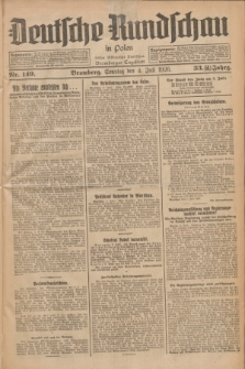 Deutsche Rundschau in Polen : früher Ostdeutsche Rundschau, Bromberger Tageblatt. Jg.33, Nr. 149 (4 Juli 1926) = Jg.50 + dod.