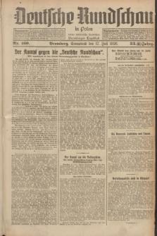 Deutsche Rundschau in Polen : früher Ostdeutsche Rundschau, Bromberger Tageblatt. Jg.33, Nr. 160 (17 Juli 1926) = Jg.50 + dod.